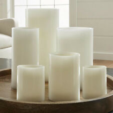 Flameless Pillar LED Candle White Real Wax Assorted Sizes Wedding Home Decor