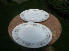 2x PARAGON CHINA VICTORIANA ROSE LARGE OVAL PLATE,1ST QUALITY.