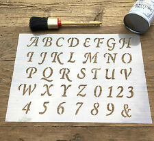 Old English Stencil, Letters Stencil, ABC & Numbers Stencil, Capitals Stencil