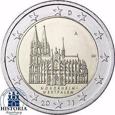 Kölner Dom 2 Euro Deutschland 2011 bankfrische Gedenk-Münze Münzzeichen A