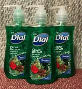 3 DIAL LIMITED EDITION CEDAR BALSAM HYDRATING HAND SOAP  (7.5 oz.ea)