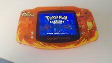 Game Boy Advance GBA  Charmander Themed LCD IPS  V2 Backlight