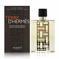 "TERRE D'HERMES BY HERMES ""H"" LIMITED 3.3 O.Z EDT SPR.*MEN'S COLOGNE* NEW IN BOX"
