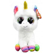 """Ty Beanie Boos Medium 9"""" - Pixy the White Unicorn Plush"""