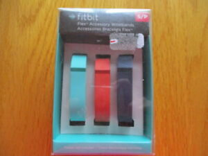 Fitbit Flex Accessory Wristbands Bracelets Classic 3-Pack S Red Black Turquoise