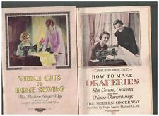 Home Sewing & Draperies Booklet Lot of 3 Singer Pellon 1930s-1950s