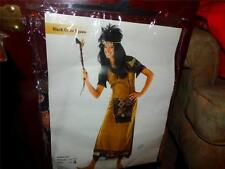 AMERICAN INDIAN WOMEN'S BLACK CROW SQUAW HALLOWEEN COSTUME 10-12 STANDARD