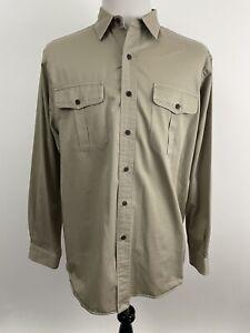 Polo Ralph Lauren Ranger Shirt Men Size Large Cotton Flap Pockets Khaki Cargo