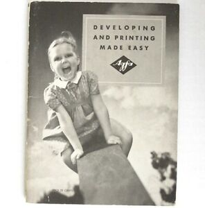 Agfa Developing And Printing Made Easy, 1941 Guide with Chemical Formulas Orig