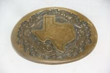 Vintage State of Texas 1985 Belt Buckle Solid Bronze by High Mesa