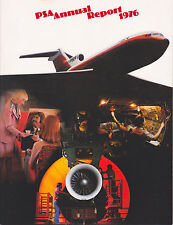 1976 Pacific Southwest Airlines PSA Annual Report Midyear Quarterly Report RARE