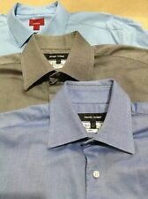 Lot of 3 Men's Dress Shirts Rykiel Homme & Alfani 39 15 1/2 Light Blue Blue Gray