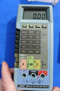 Fluke IBM 8060A/AA Digital True RMS Multimeter w/ Case & IBM Lead Set 6428104