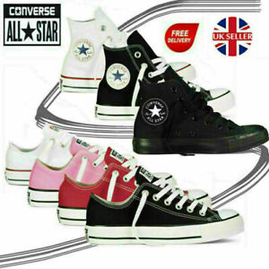 Converse Canvas Sneakers Unisex Men Women Chuck Taylor High Low Trainers Shoes