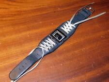 MONTRE ESPRIT Watch UHR bracelet cuir avec lacets LEATHER LEDER strap BLACK noir