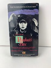 Pandora's Box VHS (1928 silent movie remastered in 1986 with English subtitles)