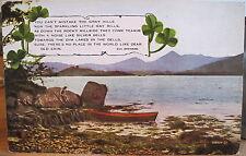 Irish Postcard GRAY HILLS GAY RILLS Lakes of Ireland Dear Old Erin Eva Brennan