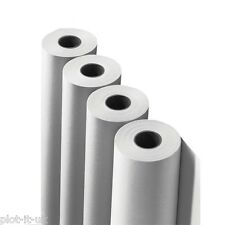 "4 x Plotter Paper 24"" A1 610mm x 50mt roll for HP Designjet Canon iPF inc VAT"