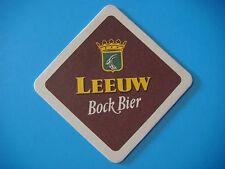 Beer Coaster ~  Haacht LEEUW Bock Bier ~ Boortmeerbeek, Belgium ~ Goat Design