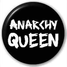Small 25mm Lapel Pin Button Badge Novelty Anarchy Queen - Rebel