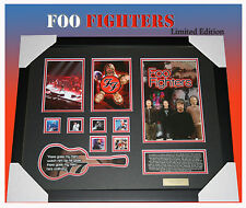FOO FIGHTERS MUSIC MEMORABILIA FRAMED LIMITED EDITION TO 499 WITH C.O.A