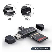 Micro Tf Memory card Reader Adapter C Type Usb 2.0 Charger Micro Otg Laptop