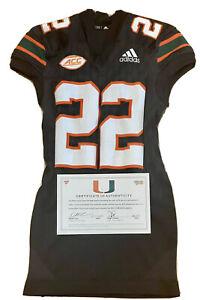 Miami Hurricanes Game Worn Sheldrick Redwine Black Adidas Game Used Jersey NFL