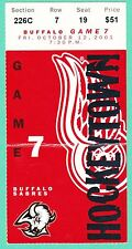 10-12-01 SABRES - RED WINGS  HOCKEY TICKET STUB  ROBITAILLE SHANAHAN GOALS