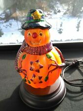 "10"" Tall Pumpkin Man Light #5107 Merck Family's Old World Christmas 2002 w. Box"