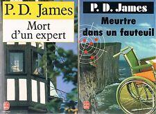 P D JAMES MORT D'UN EXPERT + MEURTRE DANS UN FAUTEUIL + PARIS POSTER GUIDE