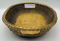 Old VTG 1991 Stonewall Kitchen Woven Wood Serving Tray Oval Basket