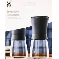 WMF Gewürzmühlen Pfeffermühle Salzmühle Set 2-tlg Keramikmahlwerk Glas