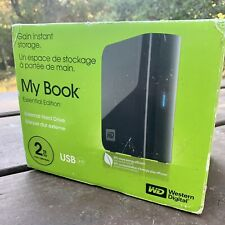 WD My Book Essential 2TB USB 2.0 External Hard Drive with Cable, AC, Manual, Box