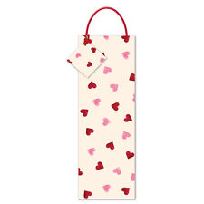 NEW Emma Bridgewater Pink Heart Bottle Gift Bag