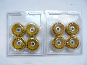 8 Stück GOOGY Rollschuh-Rollen Wheels mit Abec-1 Kugellager PU 90A 51x29mm 8mm