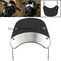 5-7''Retro Motorcycle Round Headlamp Fairing Front Windshield Bracket Universal