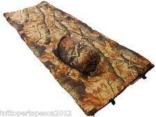A0579 NGT CAMO SLEEPING BAG WITH CASE SACCO A PELO CARPFISHING CON SACCA BIVVY
