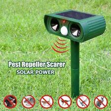 Solar Power Cat Repellent Scarer Deterrent Ultra Sonic Dog Fox Cat Pest Animal O