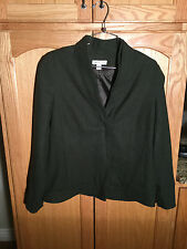COLDWATER CREEK Women's Jacket Blazer SIZE 10 Dark Green - Olive