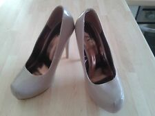 ATMOSPHERE BY PRIMARK PLATEAU PUMPS LACK NUDE 38 NEU