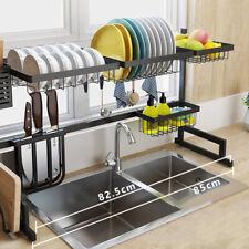 Dish Drying Rack Over Sink Drainer Shelf Kitchen Storage Organization Holder