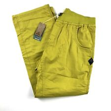 NEW PrAna Mens Zander Pants Citronette Sz XL Pull On $69