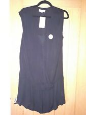 Colline Size 12 Eur 40 Black Maternity  Sleeveless Dress With Front Panel New WT