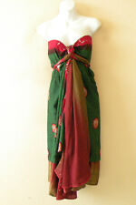"E393 Vintage Silk Magic 36"" Women Kariza Style Boho Wrap Skirt Tube Dress + DVD"