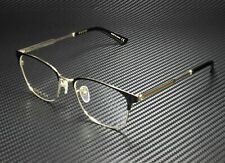 GUCCI GG0609OK 001 Square Black Black Gold Demo Lens 52 mm Men's Eyeglasses