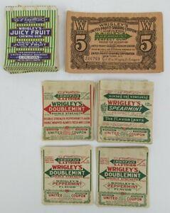 WRIGLEY'S Spearmint/Juicy Fruit/Doublemint GUM UNITED PROFIT SHARING COUPON Lot