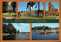 Berlin Friedrichshagen DDR Mehrbild-AK ua. Müggelpark Wertseestraße u. Seebad