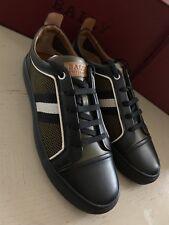 New  Bally Men Hegor Leather Sneakers Shoes Black 10 US Switzerland