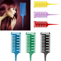 US 3 Way Sectioning Weave Weaving Comb Hair Dyeing Sectioning Highlighting Tool