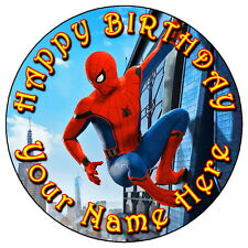 "SPIDERMAN Homecoming Party - 7.5"" Personnalisé Rond comestible glaçage cake topper 2"